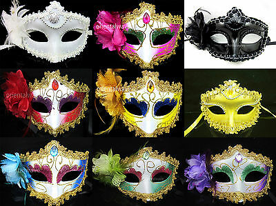 Venetian Face Masquerade Mask Ball Dance Flower Mask Face Mask You Pick
