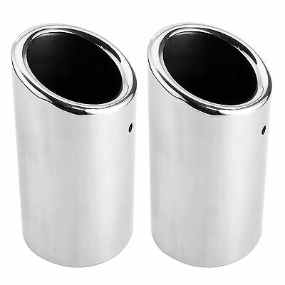 Stainless Steel Exhaust Tips Pipe Tail For VW Golf MK6 MK7 Silver 2 PCS