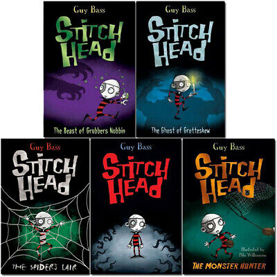 Guy Bass Collection 6 Books Stitch Head Series Set Pack The Ghost of Grotteskew