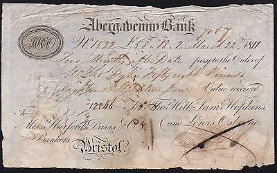 1811 Abergavenny Bank - Bank Draft *