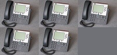 Lot of 10 Cisco CP-7960G IP Phone 7960 VoIP Business Phone + handsets