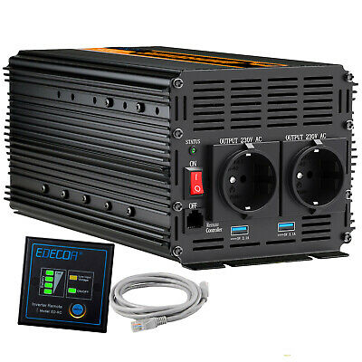 Power Inverter 2000W/4000W DC 24V to 240V  Converter Softstart function