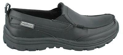 Skechers Hobbes Slip On  Shoe Leather Mens Work And Uniform Shoes