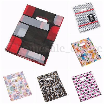 100PCS 20*15CM Pretty Mix Pattern Plastic Jewelry Candy Gift Bag Shopping Pouch