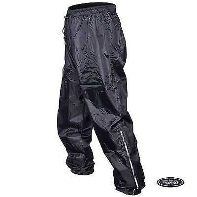 Orina Waterproof Motorcycle Unlined Motorbike Black Rain Over Pants Trousers