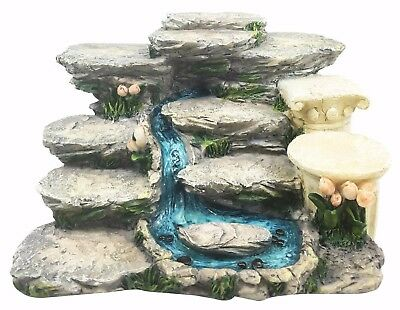 Nature Terraced Mountain Waterfall Stream Steps Display Figurine For Miniatures