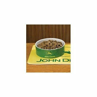 The Encore Group John Deere Encore Dog Cat Food Ceramic Pet Bowl - Size: Large