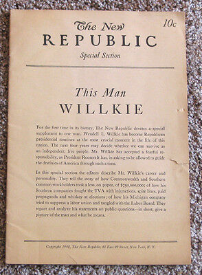 The New Republic - Wendell Willkie Publication