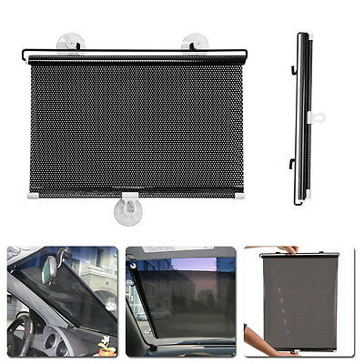 Auto Retractable Side Window Car Curtain Shade Windshield Sunshade Shield Visor