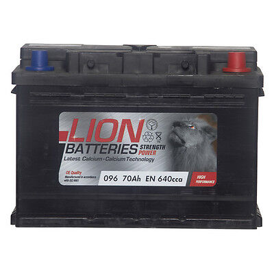 Lion Batteries Car Battery 640CCA 12V 70Ah Type 096 Sealed 3 Years Warranty