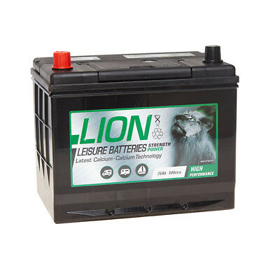 Lion Batteries Leisure Battery 75Ah Type 677 2 Years Warranty OEM Replacement