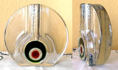 VASE - SPACE AGE - KRISTALL - 70er - WALTHER-GLAS