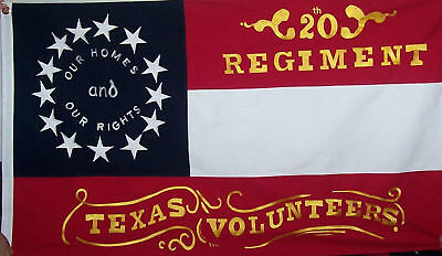 Cotton 20Th Regiment Texas Volunteers 3 X 5 Flag -