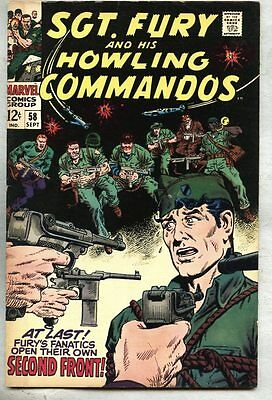 Sgt. Fury #58-1968 vf Sgt Fury Vs Hitler 1st / intro Agent of 1,000 Faces