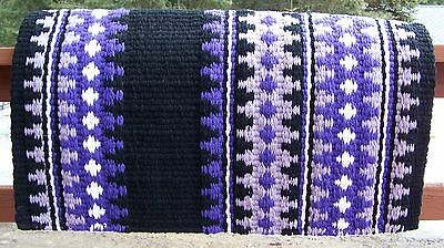 Catalina Show Blanket - 38x34 (Black Base/Purple Accents) by Mayatex