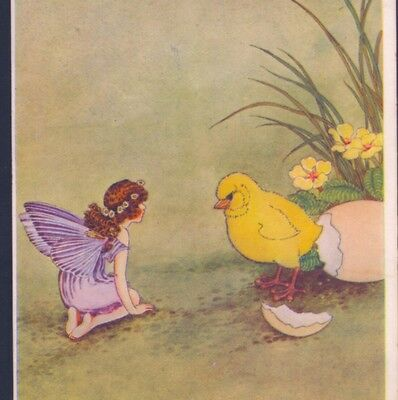 Scarce..! Outhwaite Fairy Meets Hatching Easter Chick,a. & C. Black, Postcard