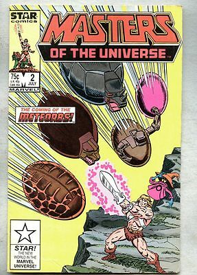Masters Of The Universe #2-1986 vg He-Man Skeletor Marvel