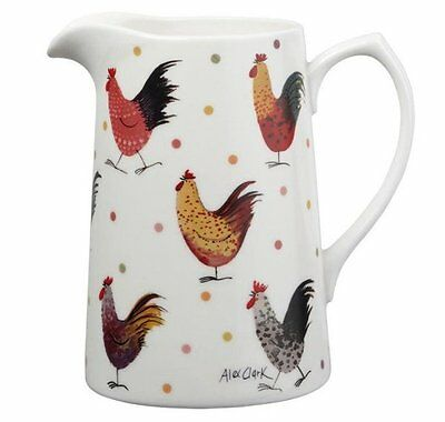 Alex Clark ROOSTER JUG 1.5pint 850ml Fine China BOXED