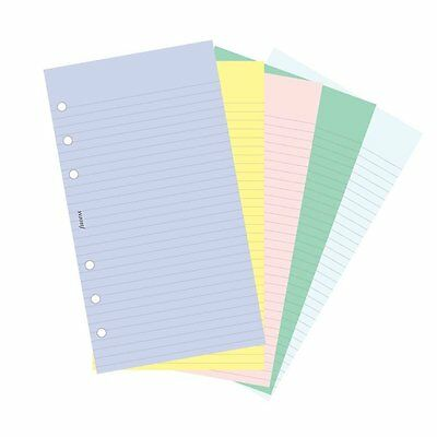 Filofax Papers 100 Plain and Ruled Notepaper, Multicolor Personal 130502