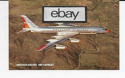 American Airlines Convair 990A Astrojet Airline Issue Postcard