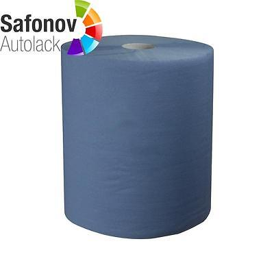 CARSYSTEM Paper cleaning cloth Roll 2-layer blue 1000 Ripped off 36x36 cm