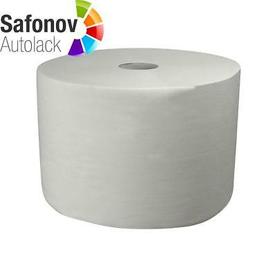 CARSYSTEM Paper cleaning cloth Roll 2-layer white 1500 Ripped off 38x24 cm