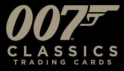 James Bond Classics 2016 ~ 72-CARD BASE SET, CASE TOPPER CT1 & BINDER
