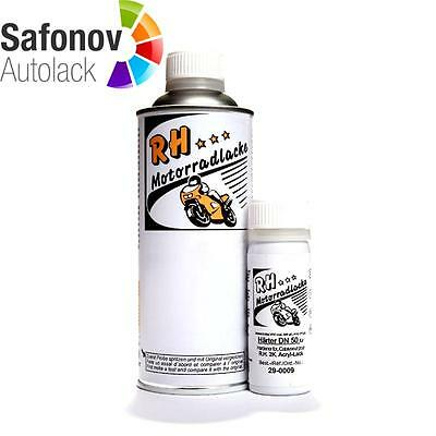 RH MOTORCYCLE PAINT 2K Engine lacquer grey silver Set 375 ml 21-0098