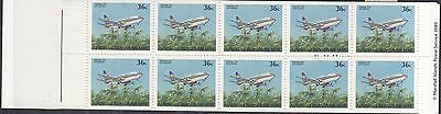 MARSHALL ISLANDS BOOKLET : 1989  Aircraft 36c x 10 SG SB14 MNH