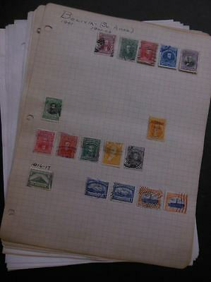 BOLIVIA : Old Time Mint & Used collection on pages.