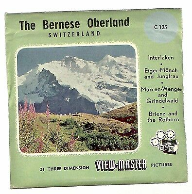 MADE IN BELGIUM vintage SAWYERS View Master THE BERNESE OBERLAND Switzerland old