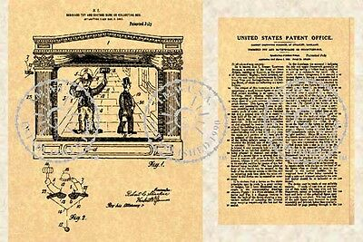 CHARLIE CHAPLIN Collecting Box BANK US Patent #386