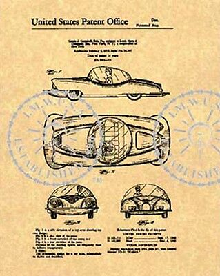 MARX Toy CAR BUBBLED ROOF US Patent #443