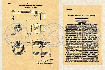 Patent for SELLMER CLARINET OBOE Octave Vent #099
