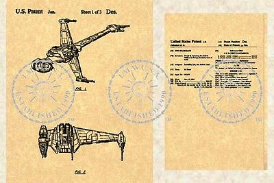 US Patent for the STAR WARS B-WING #133