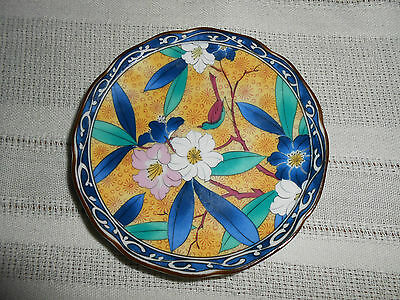 Chinese butter pat dish, floral & brids Lovely!