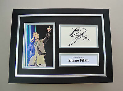 Shane Filan Signed A4 Photo Framed Westlife Memorabilia Autograph Display + COA