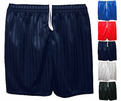 Unisex Boys Girls Kids Childrens School Sports Shadow Stripe PE Football Shorts
