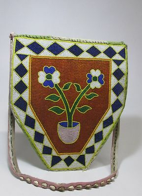 Reduced From $200 Yoruba Beaded Shoulder Bag with floral motif