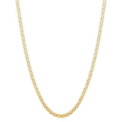 "14k Solid Yellow Gold Mariner Link Chain  Necklace 3.2mm 16"", 18"", 20"", 22"", 24"""