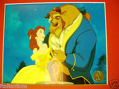 Matted Disney Beauty And The Beast Rose Cel Cell Animation Art