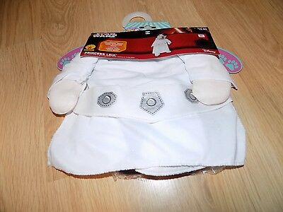 Size Small Disney Star Wars Princess Leia Pet Dog Halloween Costume Dress & Wig