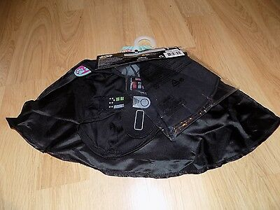 Size Small Disney Star Wars Darth Vader Pet Dog Halloween Costume Cape Headpiece