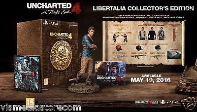Uncharted 4: A Thief's End Libertalia Collector's Edition PS4 FREE UK SHIPPING!