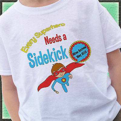 Every Superhero Needs A Sidekick Big Brother Shirt Personalized Month Year