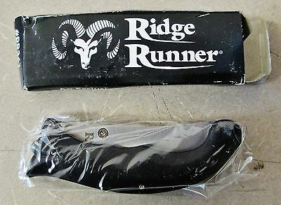 "Lot of 2 RIDGE RUNNER #RR361 Tactical Folding Pocket Knife With Box 3"" Free Ship"