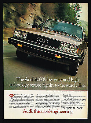 1983 Audi 4000 Car Photo Dignity & Value Vintage Print Ad