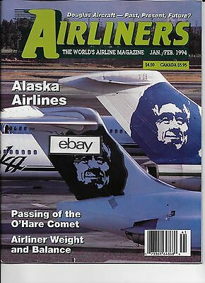 Alaska Airlines Airliners Magazine 1/2 1994 Alaska Airlines Issue History