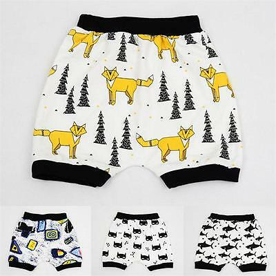 Baby Boys Girls Cotton Trousers Summer Bloomers PP Shorts Pants Animal Print S2U