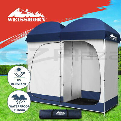 Double Camping Shower Toilet Tent Outdoor Portable Change Room Shelter Ensuite0